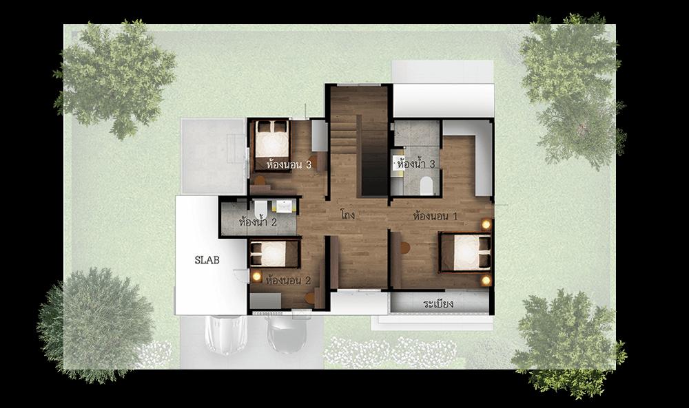 แบบบ้าน infinite โครงการบ้านเชียงใหม่ ริชชี่ริชแลนด์-สันทรายหลวง