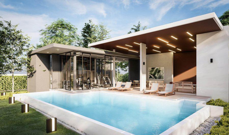 คลับเฮาส์ สระว่ายน้ำ ฟิตเนส โครงการบ้านเชียงใหม่ ริชชี่ริชแลนด์-สันทรายหลวง